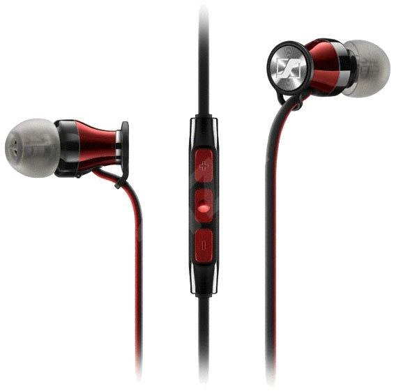 Sennheiser MOMENTUM In-Ear G Black-Red - Fej-/fülhallgató