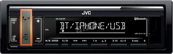 JVC KD-X361BT - Autórádió