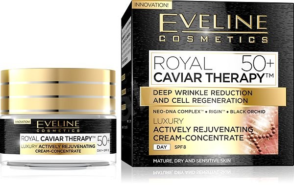 EVELINE Cosmetics Royal Caviar Actively Rejuvenating Day Cream-Concentrate 50+  50 ml - Arckrém