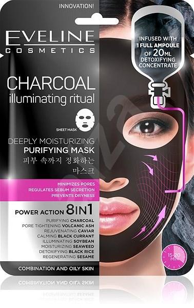 EVELINE Cosmetics Charcoal Deeply Moisturizing Face Sheet Mask - Arcpakolás