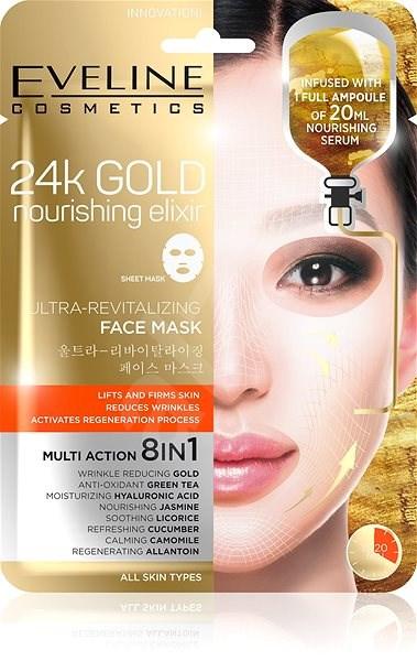 EVELINE Cosmetics 24k Gold Ultra-Revitalizing Face Sheet Mask - Arcpakolás