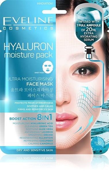 EVELINE Cosmetics Hyaluron Ultra Moisturising Face Sheet Mask - Arcpakolás