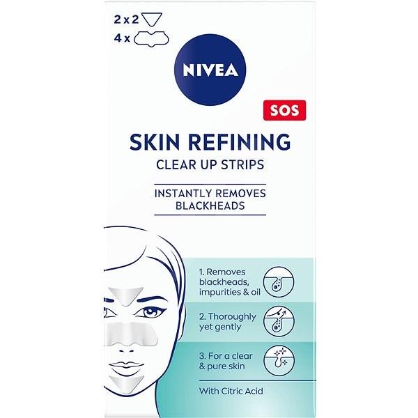 NIVEA Skin Refining Clear-Up Strips, 6 db - Tapasz