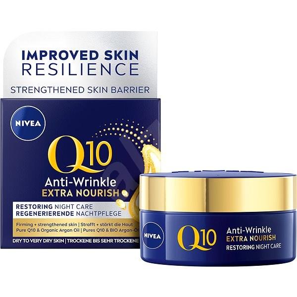 NIVEA Q10 Power Anti-Wrinkle + Extra-Nourishing éjszakai krém 50 ml - Arckrém