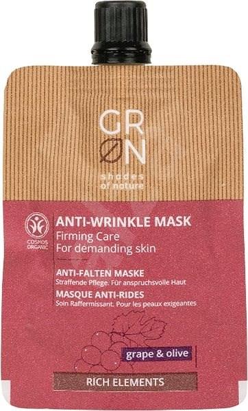 GRoN BIO Rich Elements Anti-wrinkle Mask Grape & Olive 40 ml - Arcpakolás