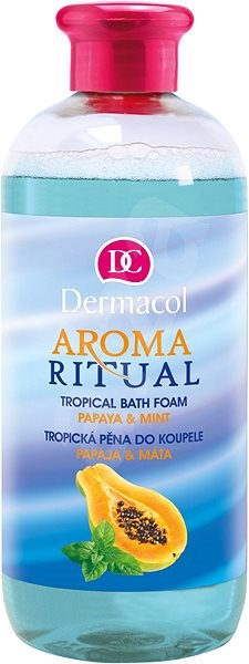 DERMACOL Aroma Ritual Papaya & Mint Tropical Bath Foam 500 ml - Habfürfő