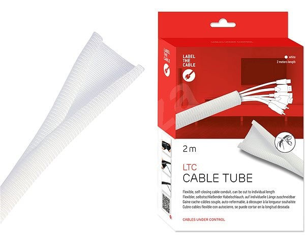 LABEL THE CABLE 5120 CABLE TUBE WHITE 2m - Kábelrendező