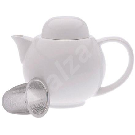 Maxwell & Williams Teáskanna és 6 csésze szűrővel WHITE BASICS - Teáskanna