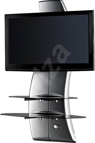 Meliconi Ghost Design 2000 fali TV konzol, ezüst - TV tartó konzol
