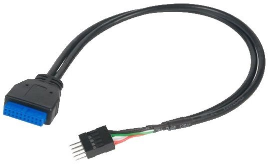 AKASA USB 3.0 (19 pólusú) USB 2.0 (9 pólusú) - Átalakító