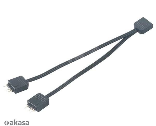 AKASA ARGB LED Csatlakozó kábel / AK-CBLD08-12BK - Tápkábel
