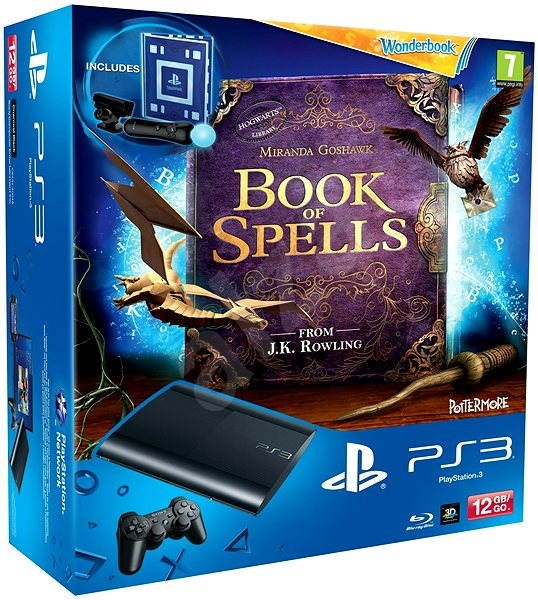 Sony PlayStation 3 Slim New 12GB +  Book of Spells: Wonderbook - Game Console