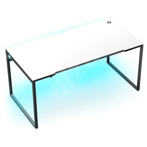 MOSH Chameleon RGB LED háttérvilágítással - fekete / fehér - Gaming asztal