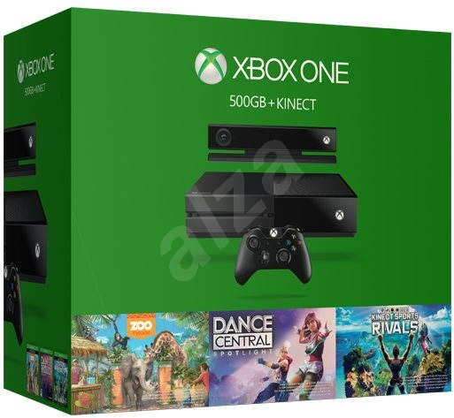 Microsoft Xbox One + Kinect sensor + 3 Games - Játékkonzol