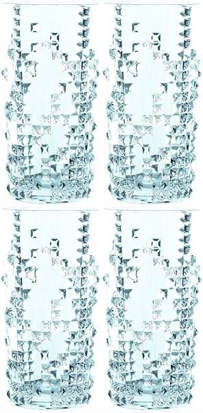 Nachtmann PUNK 390 ml-es, 4 db-os Long Drink pohárkészlet - Pohárkészlet