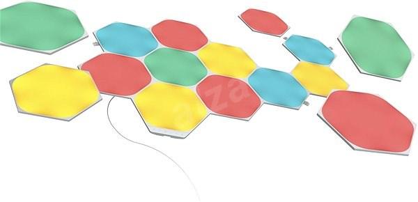 Nanoleaf alakú hatszögű kezdőkészlet 15 panellel - LED lámpa