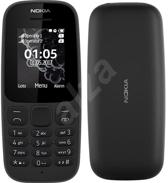 Nokia 105 (2017) Dual SIM, fekete - Mobiltelefon