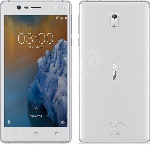Nokia 3 White Silver Dual SIM - Mobiltelefon