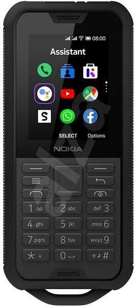 Nokia 800 4G Dual SIM, fekete - Mobiltelefon