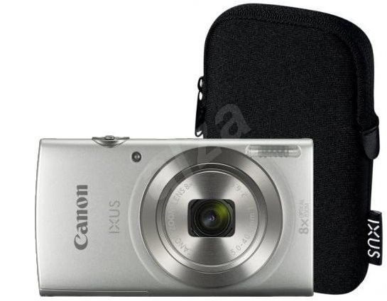 Canon IXUS 185 Ezüst Essential Kit - Digitális fényképezőgép