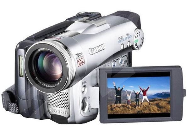 Canon DM-MVX40, CCD 2.23 Mpx, 10x opt./ 200x dig. zoom, DO, SD/MMC, DV out, AV out -