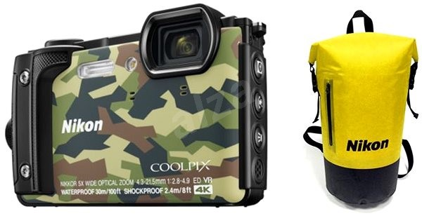 Nikon COOLPIX W300 Terepszínű Holiday Kit - Digitális fényképezőgép