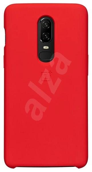 OnePlus 7 Silicone Protective Case, piros - Mobiltelefon hátlap