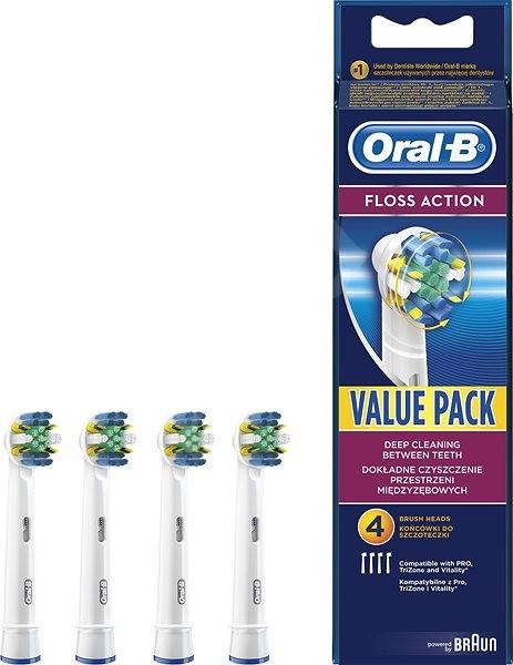 Oral-B FlossAction pótfej elektromos fogkeféhez 4 darabos kiszerelés - Elektromos fogkefe/szájzuhany fej