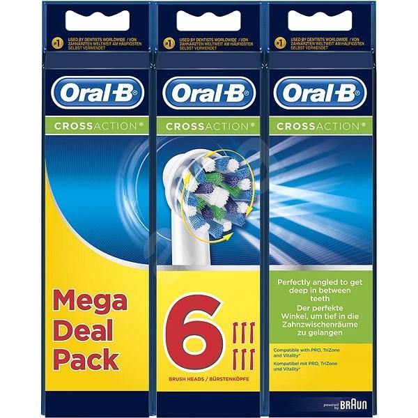 Oral-B Cross Action pótfej, 6 db - Elektromos fogkefe/szájzuhany fej