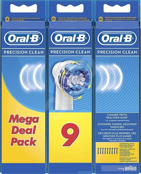 Oral-B Precision Clean pótfej, 9 db - Elektromos fogkefe/szájzuhany fej