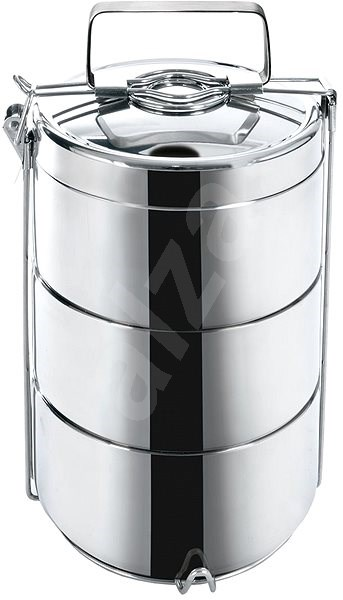 ORION 3 szintes ételhordó, termo rozsdamentes acél 14 cm - Ételhordó