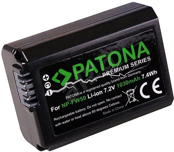 PATONA Sony NP-FW50 1030mAh Li-Ion PREMIUM-hoz - Fényképezőgép akkumulátor