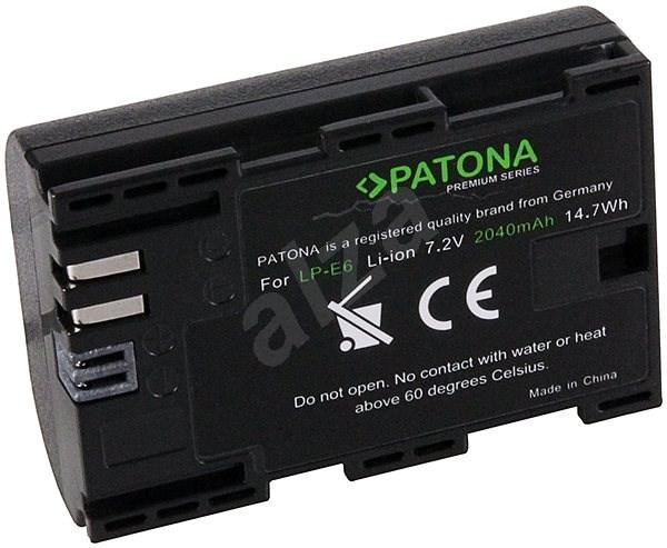 PATONA a Canon LP-E6 2040 mAh Li-Ion prémiumhoz - Fényképezőgép akkumulátor