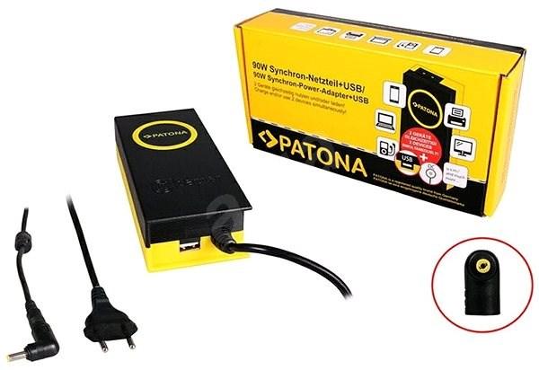 PATONA ntb / 19V / 4.7A 90W / 4,8x1,7mm csatlakozó/ + USB kimenet - Adapter