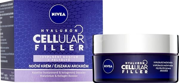NIVEA Hyaluron Cellular Filler Volume Contour Night Cream 50 ml - Arckrém