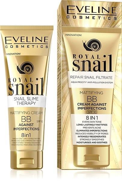 EVELINE COSMETICS Royal Snail Mattifying BB Cream Against Imperfections 8in1 50 ml - BB krém