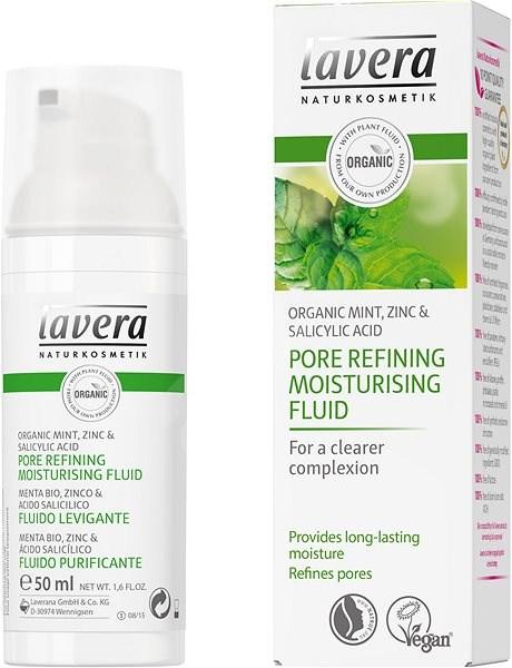 LAVERA Pore Refining Moisturising Fluid Organic Mint 50 ml - Arcápoló fluid