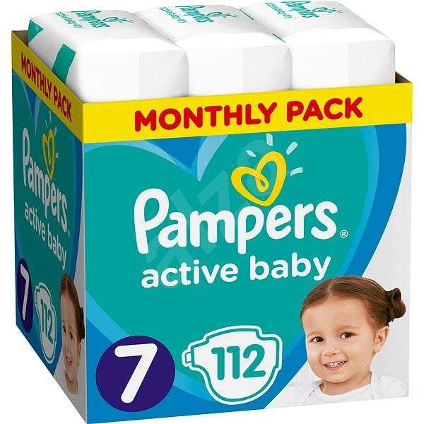 PAMPERS Active Baby, 7-es méret (112 db) - havi csomag - Pelenka