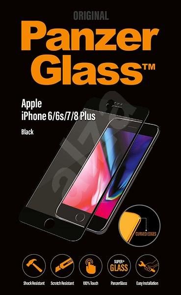 PanzerGlass Premium Apple iPhone 6/6s/7/8 Plus készülékhez fekete - Képernyővédő