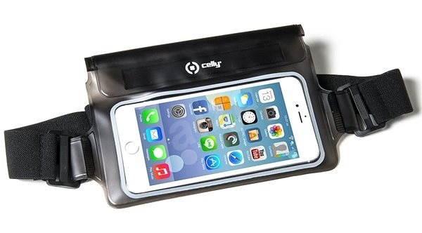 """CELLY Splash Belt 5,7"""" telefonokhoz, fekete - Mobiltelefon tok"""