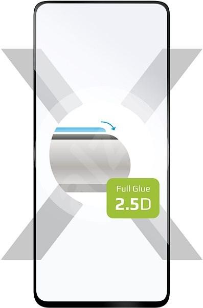 FIXED FullGlue -Cover Realme 6 készülékhez - fekete - Képernyővédő