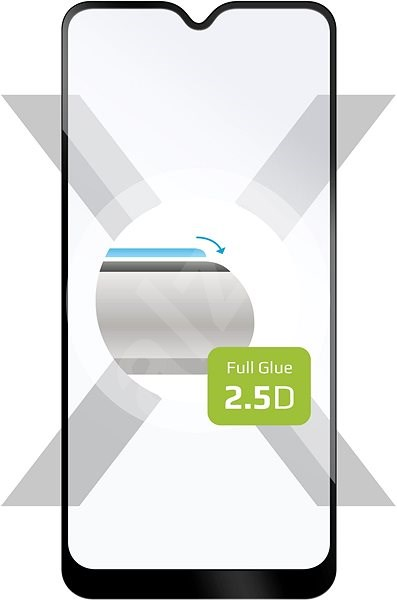FIXED FullGlue-Cover Samsung Galaxy A01 készülékhez - fekete - Képernyővédő