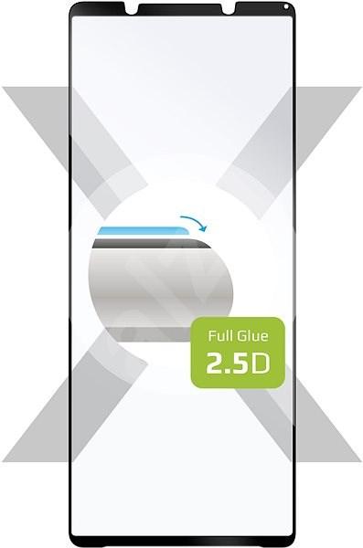 FIXED FullGlue-Cover Sony Xperia 1 II készülékhez, fekete - Képernyővédő