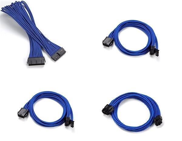 Phanteks hosszabbító kábel szett - Kék - Tápkábel