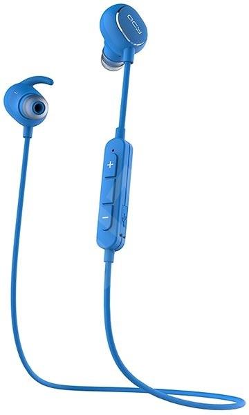 QCY QY19 Phantom Blue - Mikrofonos fej- fülhallgató  2a5fe47419