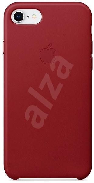 iPhone 8/7 Vörös bőrtok - Mobiltartó