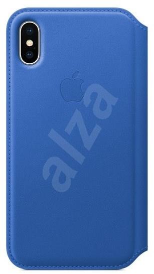 Folio iPhone X bőr tok - elektro kék - Mobiltelefon tok