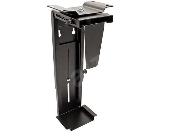 OEM asztallap alatti/fali PC tartó, fekete, 10kg-ig - PC tartó