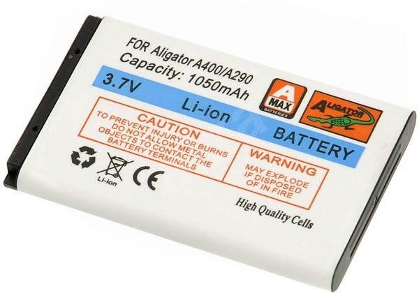 ALIGATOR A290/321/330/350/360/370/400/500/880/D730/830/R5/D200/T100, eredeti - Mobiltelefon akkumulátor