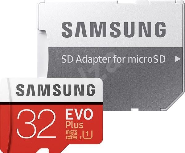Samsung micro SDHC 32GB EVO Plus + SD adapter - Memóriakártya